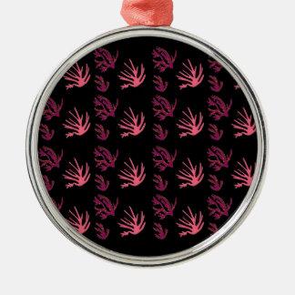 Ornamento De Metal Preto cor-de-rosa das algas