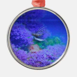 Ornamento De Metal Pterois roxo Zebrafish dos peixes do aquário do