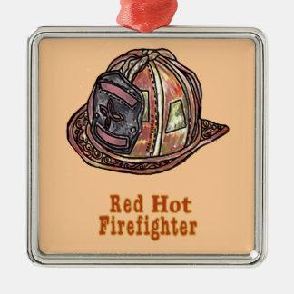 Ornamento De Metal Sapador-bombeiro encarnado