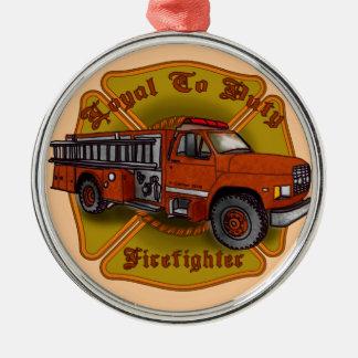 Ornamento De Metal Sapador-bombeiro leal