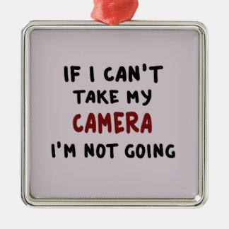 Ornamento De Metal Se eu não posso tomar minha câmera…
