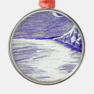 Ornamento De Metal Seascape roxo