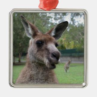 Ornamento De Metal Selfie do canguru