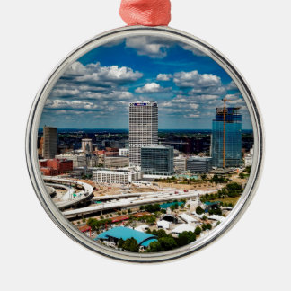 Ornamento De Metal Skyline de Milwaukee