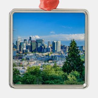 Ornamento De Metal Skyline de Seattle