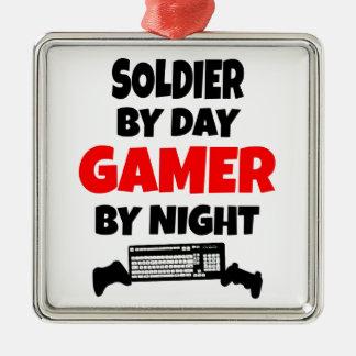 Ornamento De Metal Soldado do Gamer