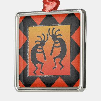 Ornamento De Metal Sudoeste que dança o design de Kokopelli
