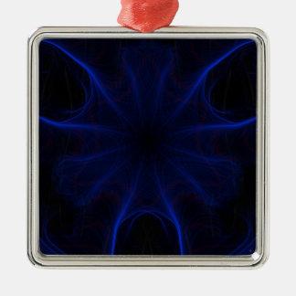 Ornamento De Metal teste padrão azul do laser
