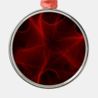 Ornamento De Metal teste padrão vermelho do laser