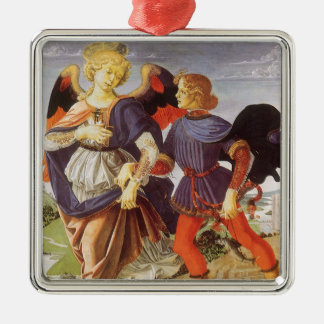 Ornamento De Metal Tobias e o anjo por Andrea del Verrocchio
