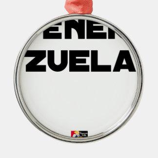 Ornamento De Metal VÉNER-ZUELA - Jogos de palavras - François Cidade