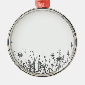 Ornamento De Metal wildflowers
