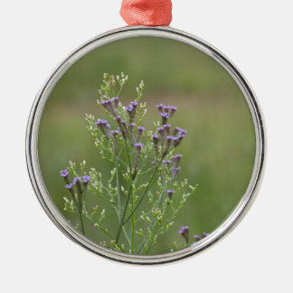 Ornamento De Metal Wildflowers delicados do Verbena da lavanda