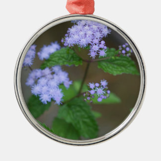Ornamento De Metal Wildflowers selvagens do Ageratum da lavanda de
