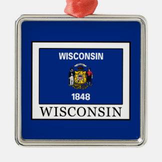 Ornamento De Metal Wisconsin