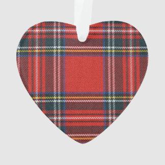 Ornamento Decoração real do coração do Tartan de Stewart