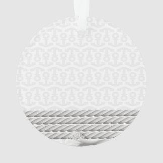 Ornamento Design náutico branco da âncora com corda