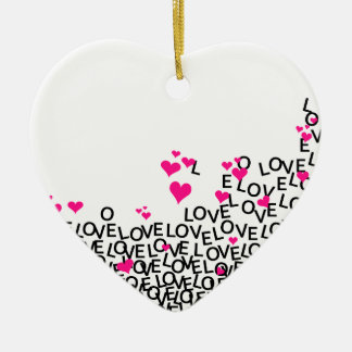 Ornamento do amor do dia dos namorados