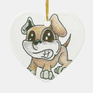 Ornamento do cão do coração - cão bonito da mascot