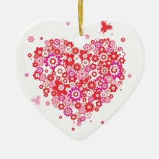 Ornamento do coração 1 da flor