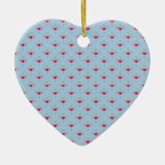 Ornamento do coração - corações pequenos do chique
