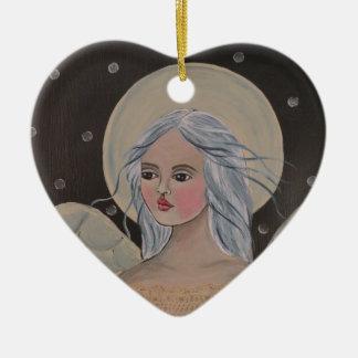 Ornamento do coração da arte do anjo