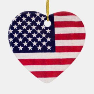 Ornamento do coração da bandeira americana