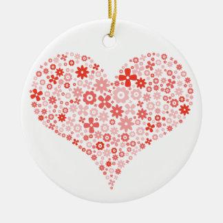 Ornamento do coração da flor