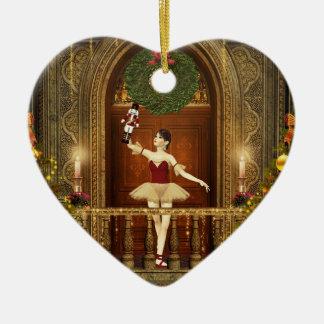 Ornamento do coração de Buon Natale do Nutcracker