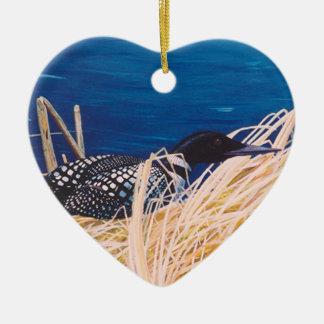 Ornamento do coração do mergulhão-do-norte do
