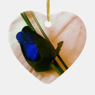 Ornamento do coração do rosa do azul