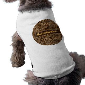 Ornamento do Couro-Olhar Camisa Sem Mangas Para Cachorro