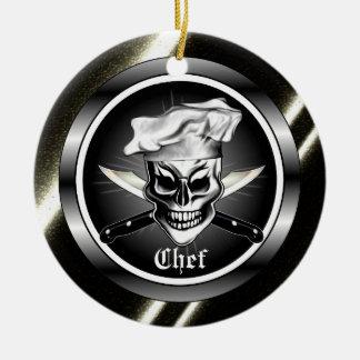 Ornamento do crânio do cozinheiro chefe