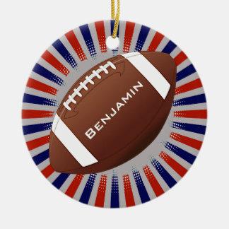 Ornamento do design do futebol americano