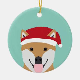 Ornamento do Doge do Natal - cão do Natal do inu
