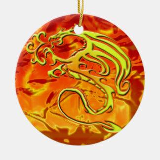 Ornamento do dragão do fogo