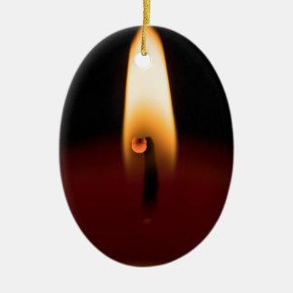 Ornamento do Oval da chama de vela