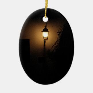 Ornamento do Oval da lâmpada da noite da lanterna