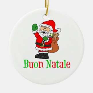 Ornamento do papai noel de Buon Natale