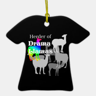 Ornamento do pastor do lama do drama