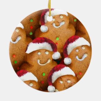 Ornamento do Xmas do papai noel do biscoito do