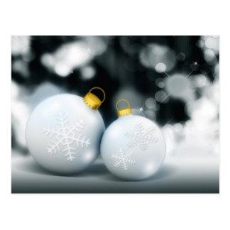 Ornamento e floco de neve cartão postal