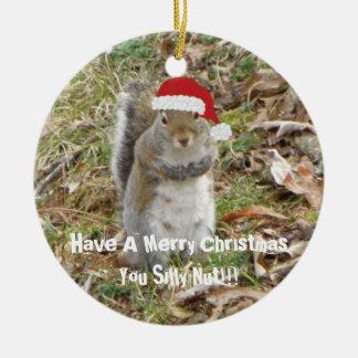 Ornamento engraçado do esquilo do Natal