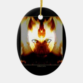 Ornamento escuro da deusa do fogo