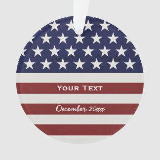 Ornamento EUA bandeira americana costume patriótico do 4 de