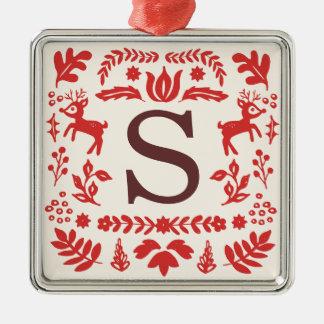 Ornamento feito sob encomenda do monograma do