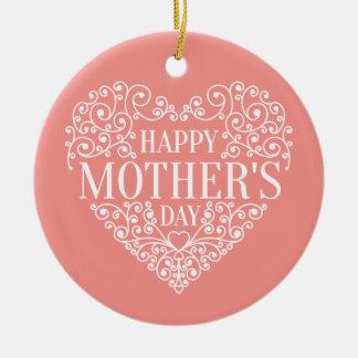 Ornamento feliz lunático do dia das mães  
