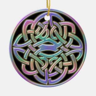 Ornamento festivo do feriado do nó celta do