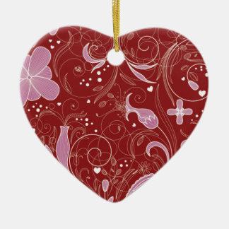 Ornamento florais do coração do amor do dia dos