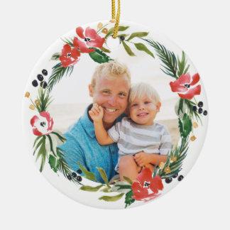 Ornamento floral do feriado da aguarela chique